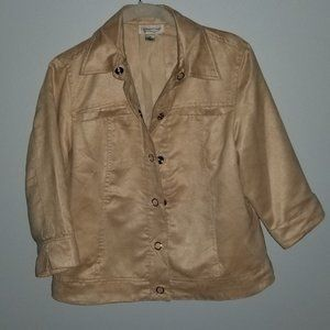 Coldwater Creek Suede-like Jacket